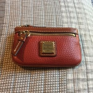 Dooney and Bourke Red Leather Coin Purse
